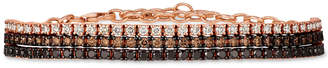 LeVian Le Vian Chocolate Layer Cake Blackberry Diamonds, Chocolate Diamonds & Nude Diamonds Bracelet (3 ct. t.w.) in 14k Rose Gold