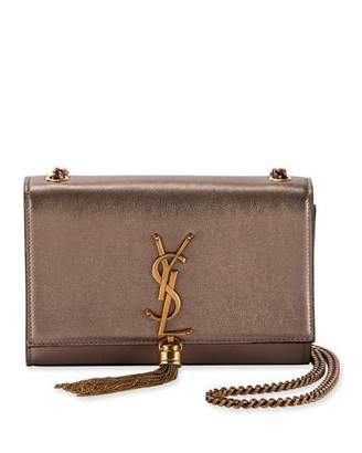 Saint Laurent Kate Small Monogram Metallic Tassel Crossbody Bag