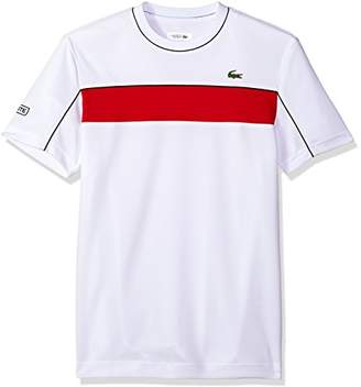 Lacoste Men's Short Sleeve Jersey Tech with Novak Graphic T-Shirt