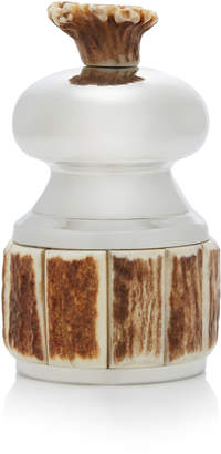 Lorenzi Milano Pewter And Stag Antler Pepper Mill