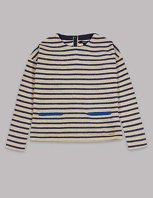 Autograph Cotton Rich Lurex Knitted Top (3-16 Years)