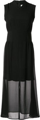 CK Calvin Klein layered georgette dress