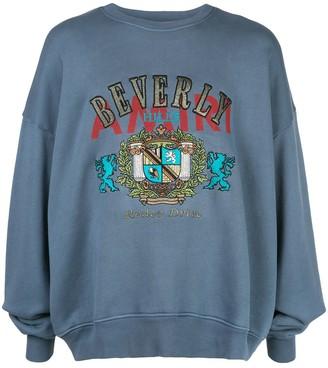 Amiri embroidered coat of arms sweatshirt
