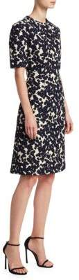 DELPOZO Jacquard Sheath Dress
