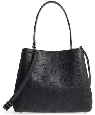MCM Sara Leather Convertible Hobo