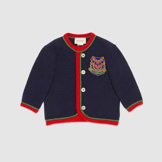 Gucci Baby wool cardigan with lyre