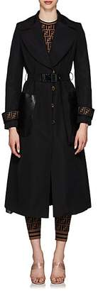 Fendi Women's Faille Trench Coat - Black
