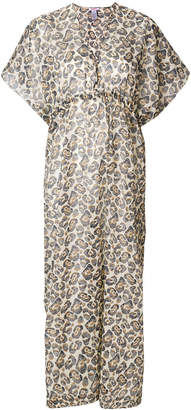 Eres leopard print beach dress