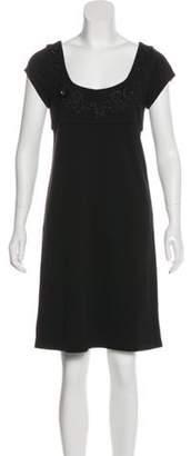 Diane von Furstenberg Beaded Wool Dress Black Beaded Wool Dress