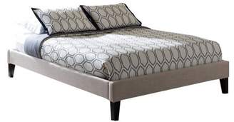 Baxton Studio Lancashire Modern and Contemporary Fabric Upholstered Bed Frame with Tapered Legs , Multiple sizes, Multiple colors