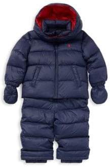 Ralph Lauren Boy's Three-Piece Convertible Jacket, Snow Pants& Mittens Set