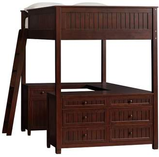 Pottery Barn Teen Beadboard Loft Bed 2.0 Re-Engineer, Full, Water-Based Dark Espresso