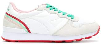 Diadora contrast laced trainers