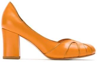 Sarah Chofakian block heel leather pumps