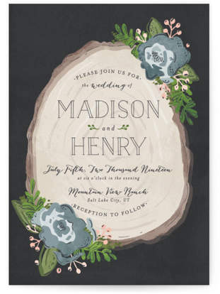 Rustic Wooded Romance Wedding Invitations