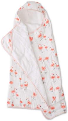 Little Unicorn Pink Ladies Cotton Muslin Big Kid Hooded Towel