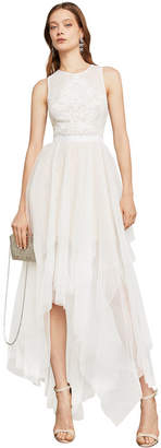 BCBGMAXAZRIA Riese High-Low Halter Gown
