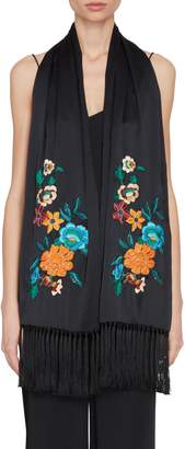 Etro Floral Embroidered Scarf