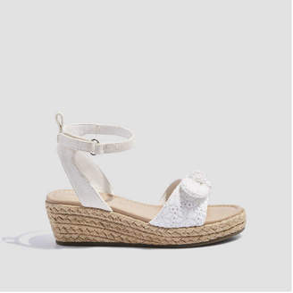 Joe Fresh Kid Girls' Eyelet Wedge Sandals