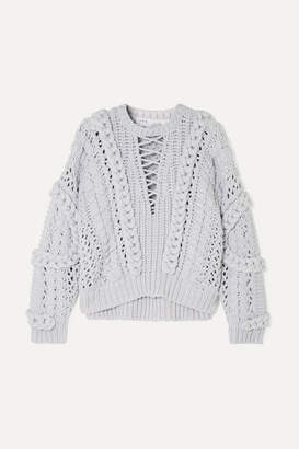 IRO Fresh Cable-knit Cotton-blend Sweater