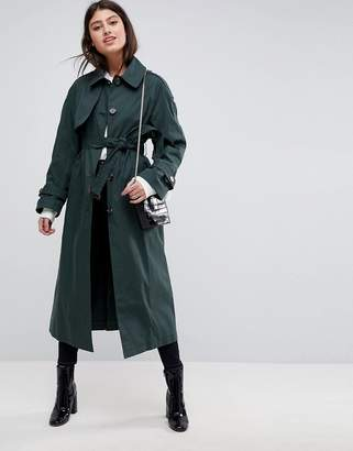 Asos Design Single Breasted Oversized Mac