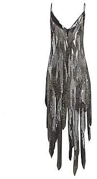 Amen Women's Sequin Fringe V-Neck Dress