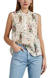 Barneys New York Women's Floral Cotton Voile Blouse - Ivorybone
