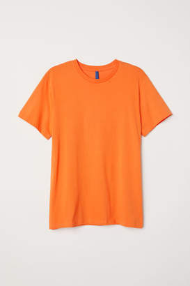 H&M Round-necked T-shirt - Orange