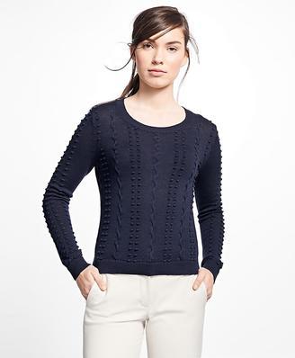 Supima® Cotton Popcorn Sweater $68 thestylecure.com