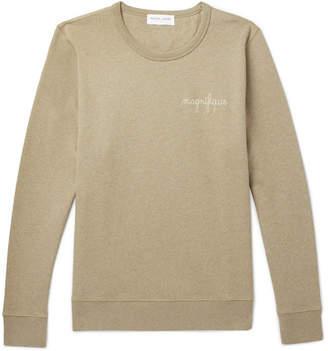 Maison Labiche Embroidered Fleece-Back Cotton-Jersey Sweatshirt