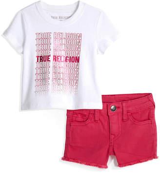True Religion REPEAT TEE BABY SET