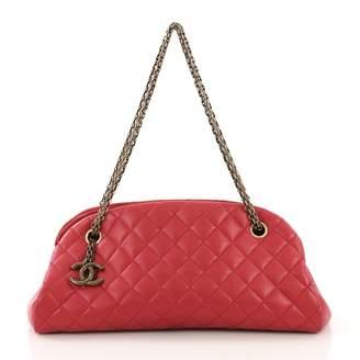 Chanel Mademoiselle Red Leather Handbag