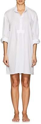 The Sleep Shirt Women's Striped Cotton-Blend Sleep Shirt