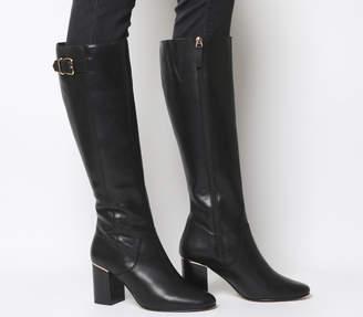 79d51b8fad3 Office Keepers Smart Block Heel Knee Boots Black Leather