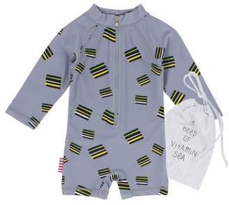 SOOKIbaby Licorice One-Piece Rashguard Swimsuit