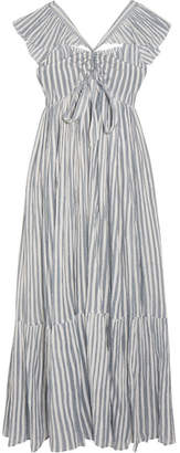 Ulla Johnson - Ariane Striped Cotton-gauze Maxi Dress - Sky blue $345 thestylecure.com