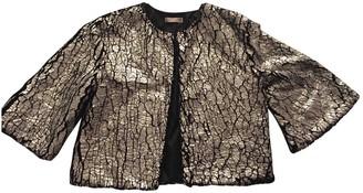 Supertrash Silver Cotton Jacket for Women