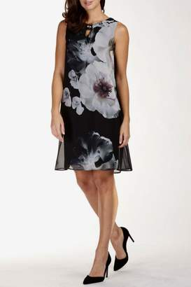 Frank Lyman Chiffon Overlay Dress