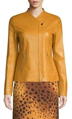 Lafayette 148 New York Delvin Leather Jacket