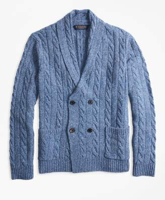 Brooks Brothers Double-Breasted Cable Cardigan