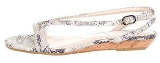 Calvin Klein Embossed Slingback Wedge Sandals