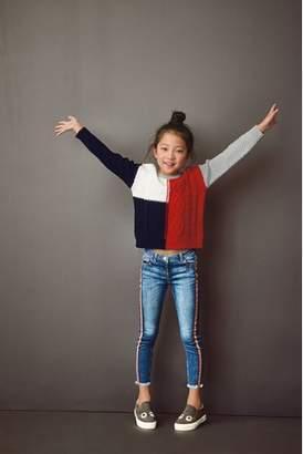 Next Girls Grey/Red Colourblock Sweater (3-16yrs)