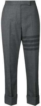 Thom Browne 4-Bar Slim-Fit Cuffed Trouser