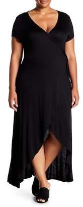 Planet Gold Faux Wrap Maxi Dress (Plus Size)