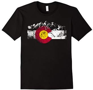 DAY Birger et Mikkelsen Colorado Flag Moutain Vintage T Shirt - Colorado Shirts
