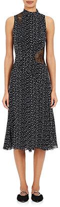 Proenza Schouler Women's Lace-Inset Silk Midi-Dress $1,350 thestylecure.com