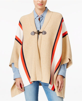 Tommy Hilfiger Striped Cape, Only at Macy's $129.50 thestylecure.com
