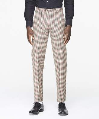 Todd Snyder Sutton Red and Brown Check Suit Trouser