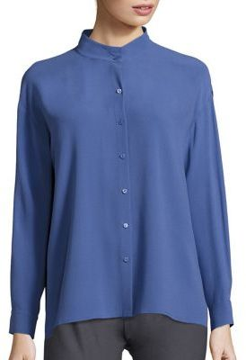 Eileen Fisher Silk Boxy Shirt $268 thestylecure.com