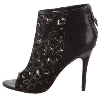 Rebecca Minkoff Peep-Toe Lace Ankle Boots